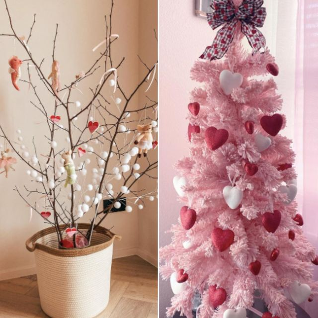 Valentine S Tree Trend Sees Christmas Trees For Valentine S Day