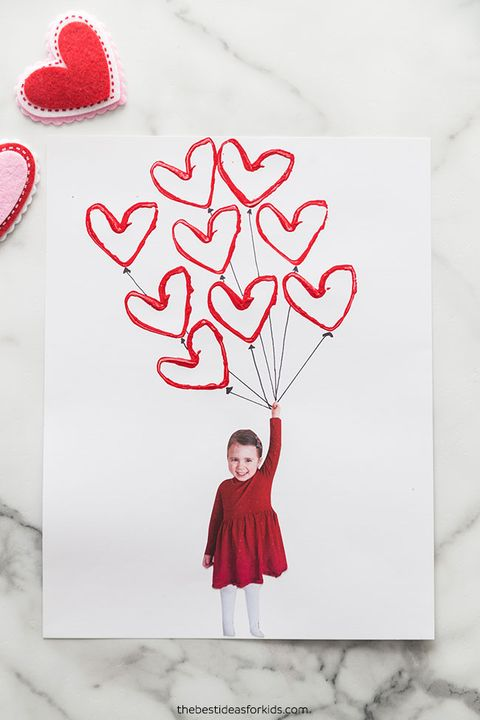 balloon valentines day card