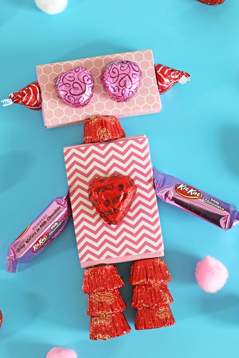 valentines day crafts for kids candy robot