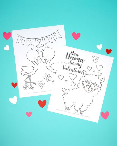 valentines day crafts for kids coloring pages