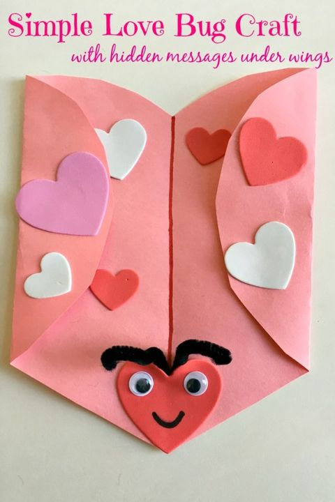 valentines day crafts for kids love bug card