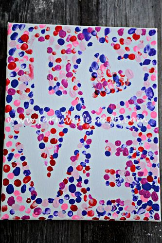 valentines day crafts for kids love canvas