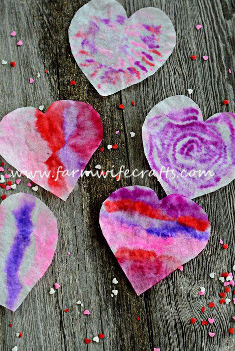 valentines day crafts for kids suncatcher hearts