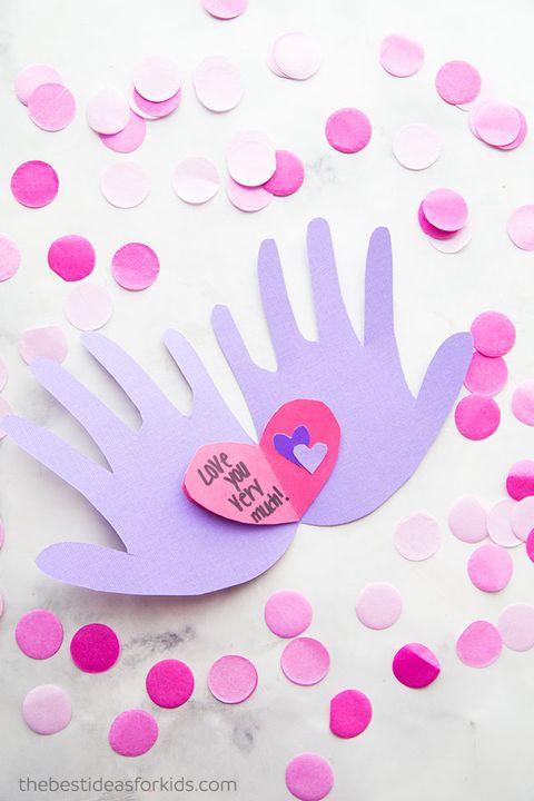 valentines day crafts kids handprint