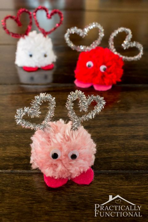 valentines day crafts kids poms