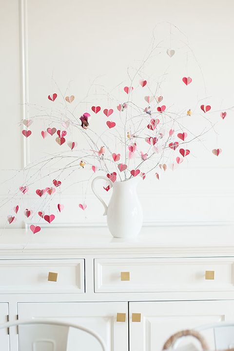 valentines day crafts - heart tree