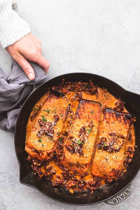 valentines day dinner ideas sun dried tomato salmon