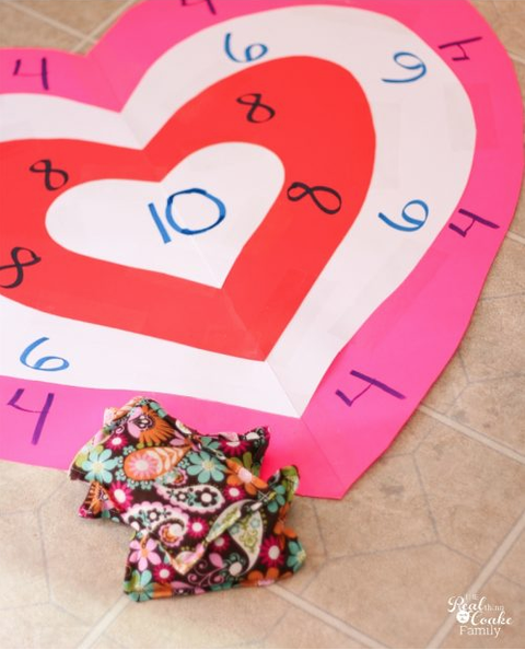 valentines day games bean bag