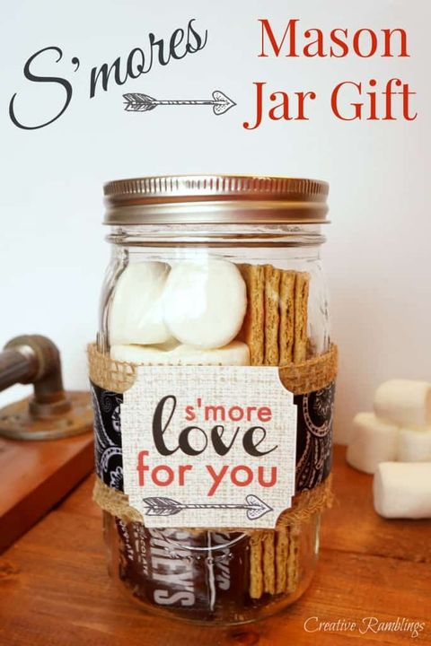 valentines day mason jar ideas smores