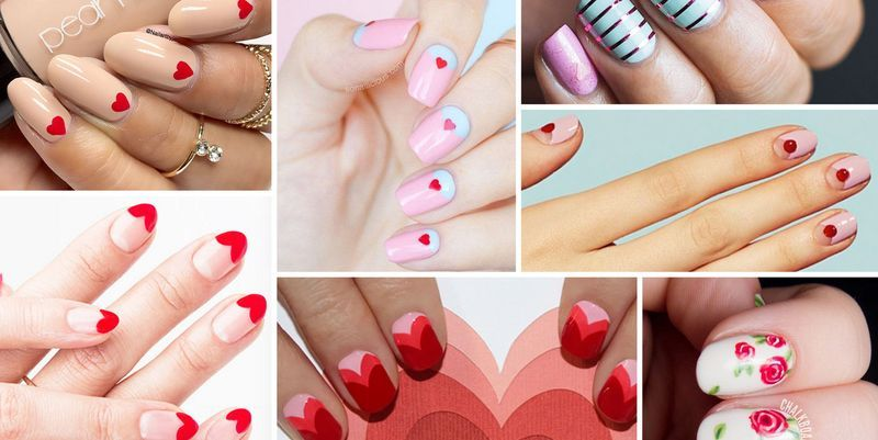 30 Best Valentine\u0027s Day Nails , Hot Nail Art Design Ideas