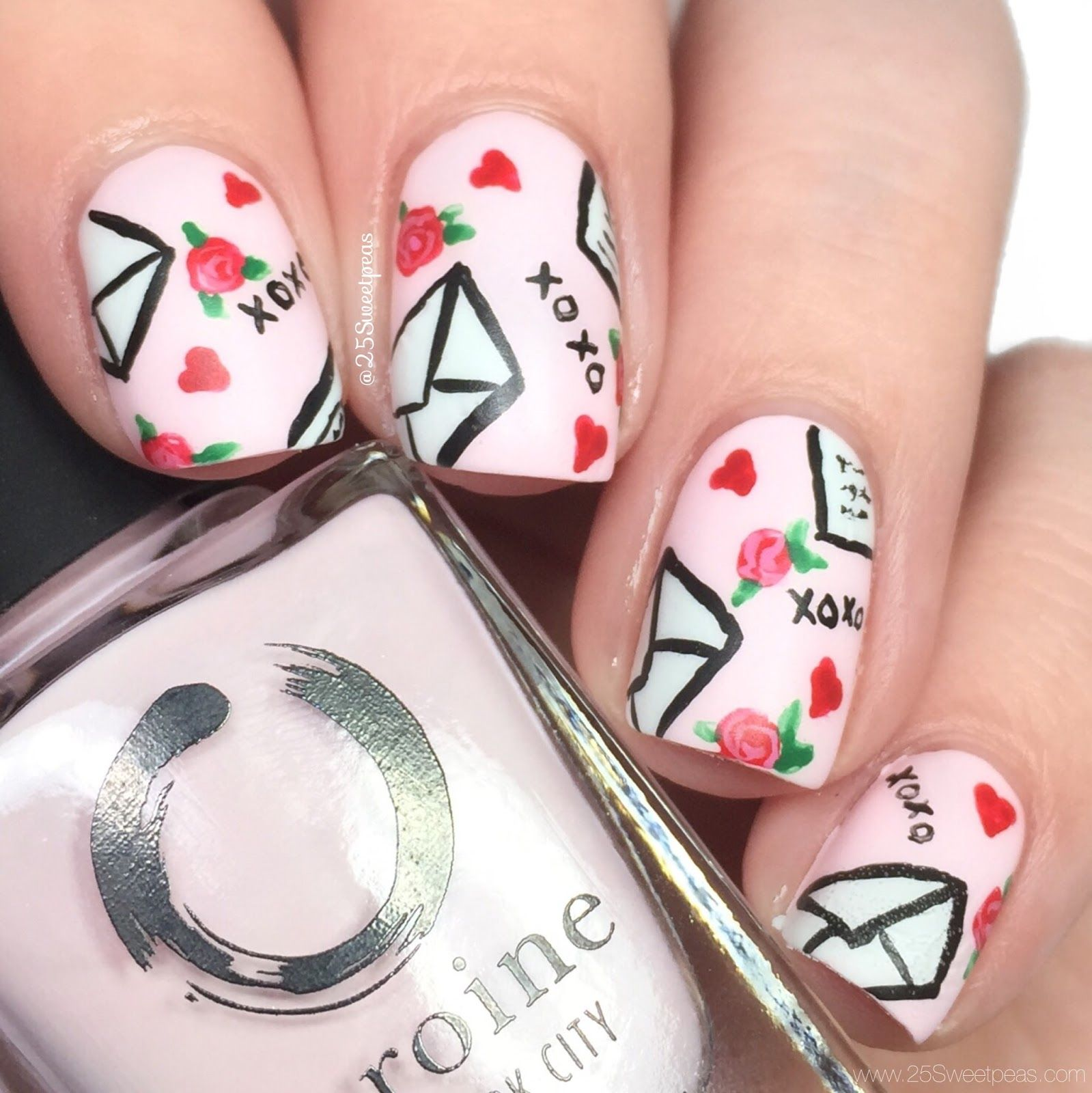 valentines day nail designs letters