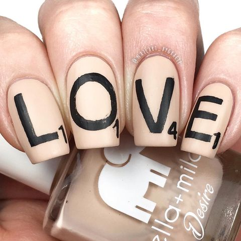 valentines day nail designs nude