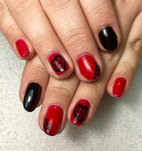 valentines day nail designs red