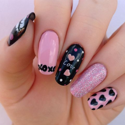 valentines day nail designs xoxo