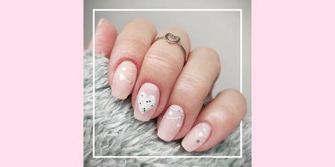 valentine's day nail art 2021