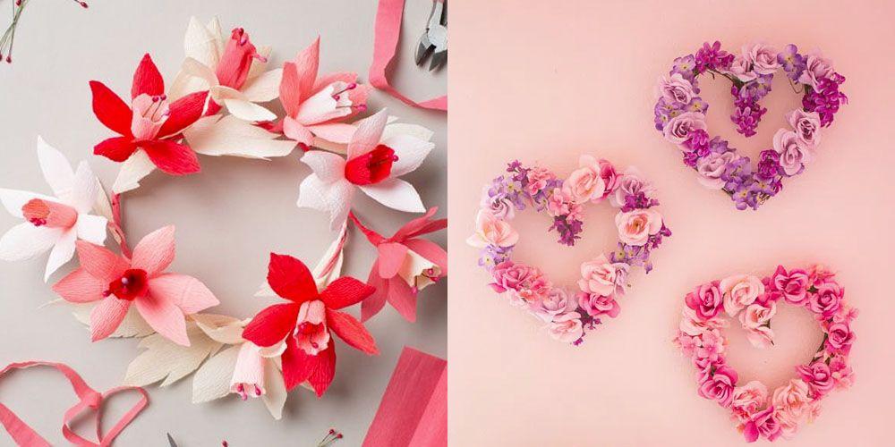 35 идей венков ко Дню святого Валентина, чтобы украсить входную дверь частичкой вашего сердца