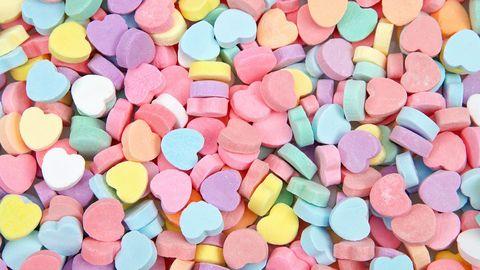 キャンディーハートバレンタインデーズーム背景
