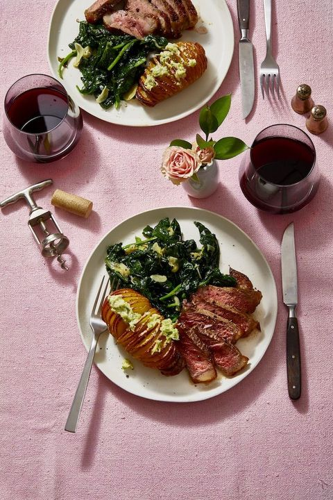 valentines dinners - steak and potatoes