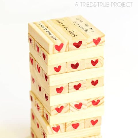 Valentine's Day Games - Tumble Tower Game