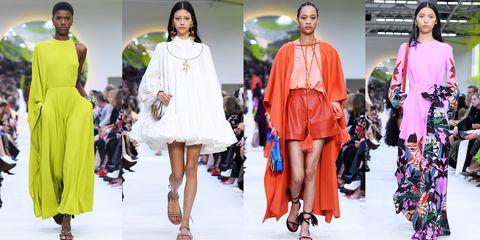 Fashion model, Fashion, Clothing, Fashion show, Runway, Fashion design, Footwear, Outerwear, Dress, Spring,