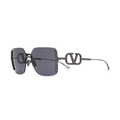 valentino eyewear zonnebril met vierkant montuur