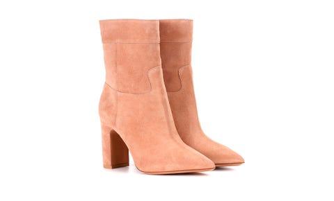 Footwear, Boot, Shoe, Tan, Beige, Leather, Knee-high boot, Suede, Joint, Leg,