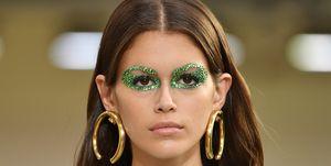 kaia gerber valentino glitter eyes
