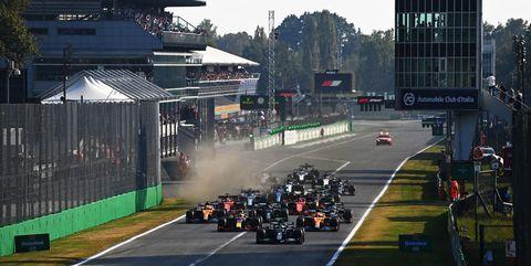 salida de la clasificación al sprint en el gran premio de italia