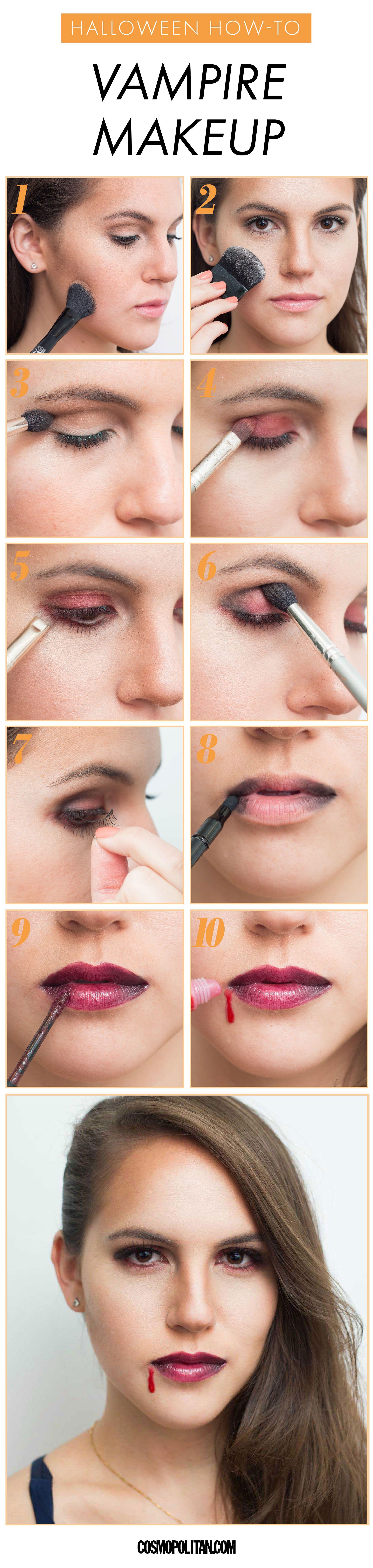 Vampire Makeup Tutorial for Halloween 2019 , How to Do