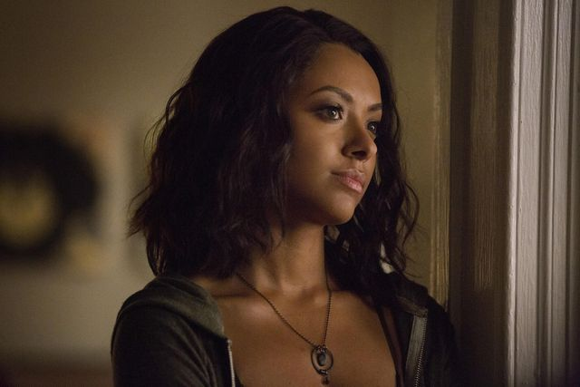 """the vampire diaries    """"today will be different""""   image number vd802a0101jpg    pictured kat graham as bonnie    photo erika dossthe cw    © 2016 the cw network, llc all rights reserved"""