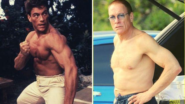 van damme sin camiseta en su primera película y en la playa con 59 años