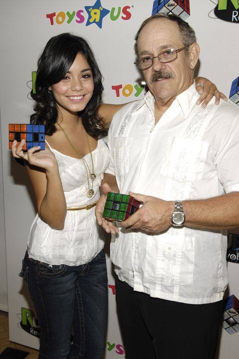 vanessa hudgens  with her father