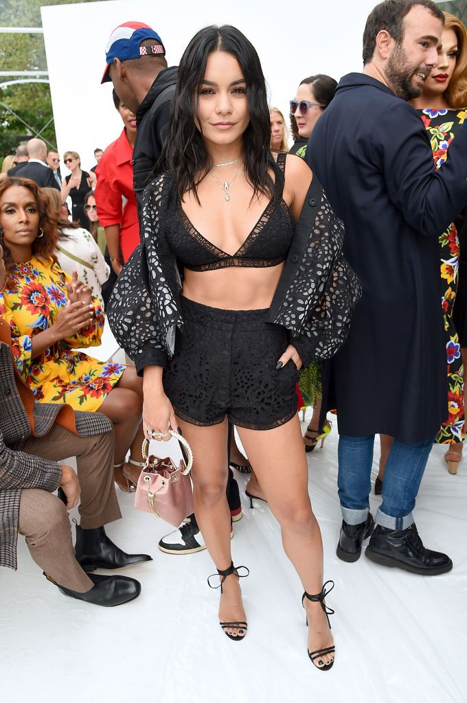 Vanessa Hudgens Shows Off Six-Pack Abs At Carolina Herrera New York Fashion Week Show