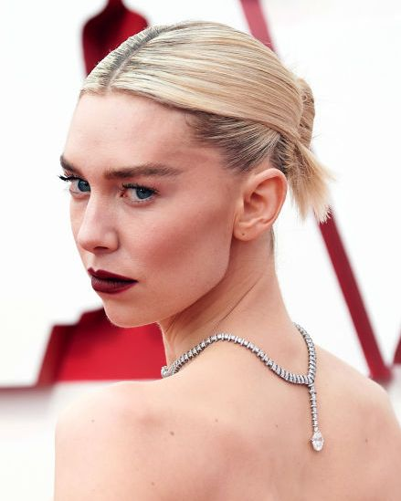 los angeles, california – april 25 editorial use only in this handout photo provided by ampas, vanessa kirby attends the 93rd annual academy awards at union station on april 25, 2021 in los angeles, california photo by matt petitampas via getty images