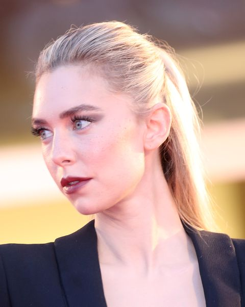 venice, italy   september 06 vanessa kirby walks the red carpet ahead of the movie the world to come at the 77th venice film festival on september 06, 2020 in venice, italy photo by franco origliagetty images