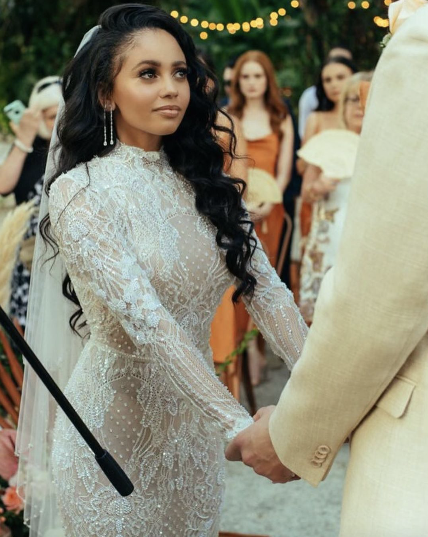 Vanessa Morgan Got Married In A Stunning Lace Wedding Dress
