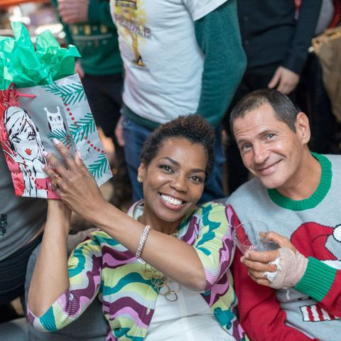the bay   ugly sweater and secret santa christmas party