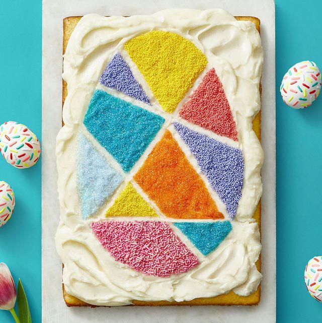vanilla buttercream easter egg cake