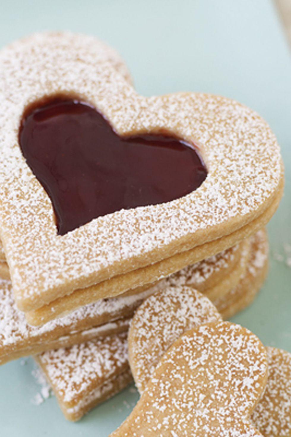 Valentine's Day Desserts - Vanilla Shortbread Hearts