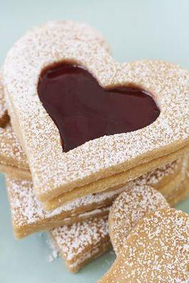 Vanilla Shortbread Hearts