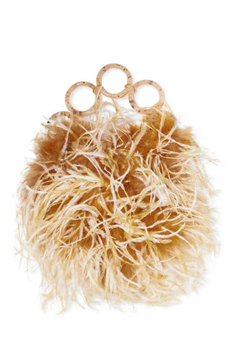 feathered bag - bag trend