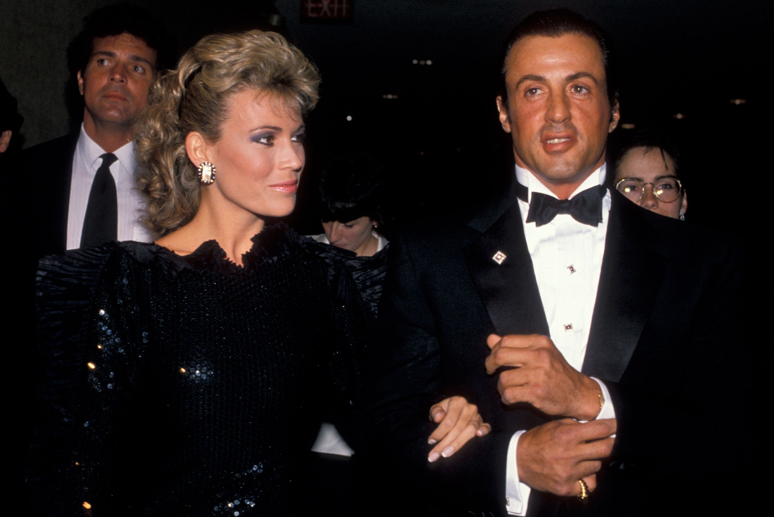 Vanna White and  Sylvester Stallone at the WHCD in 1988. ​​
