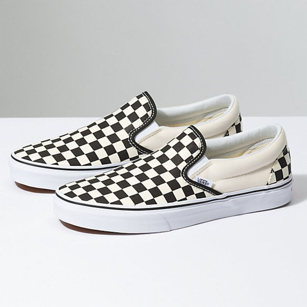 Vans slip on checker shoes