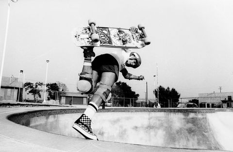 e94be1833 Steve Caballero wearing the checkerboard Sk8-Hi. Courtesy of Vans