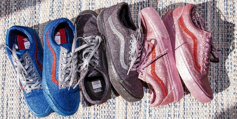 Image result for Vans Released Pink Glitter Sneakers