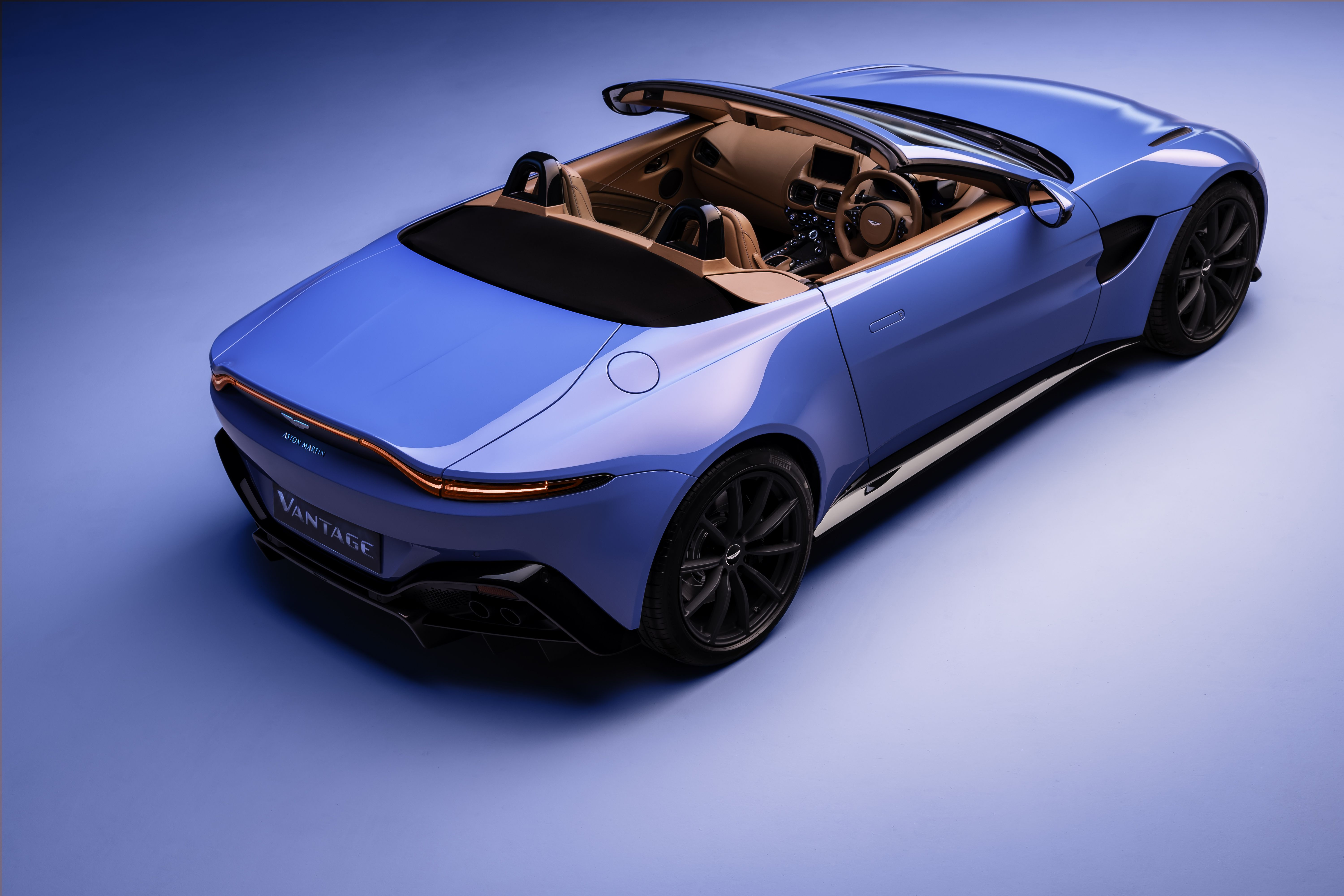 The 2021 Aston Martin Vantage Roadster Packs 503 HP and an Ultra-Fast Folding Top