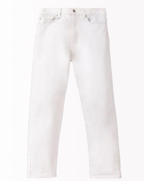 Pantalón vaquero blanco Zara SRPLS otoño 2019