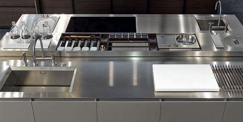 Dal legno all\'acciaio: i nuovi materiali delle cucine Varenna