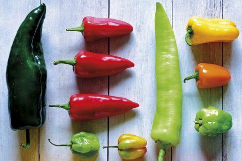 Pimientos y chiles: variedades