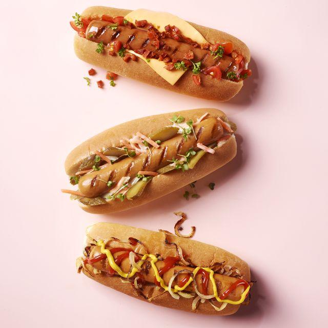 3 varieties of hotdogs